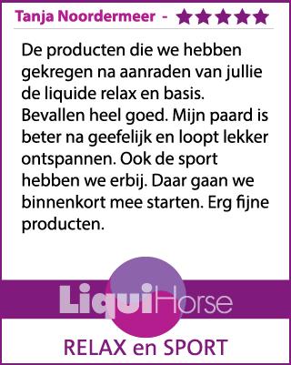 Ervaring LiquiHorse Relax Tanja Noordermeer