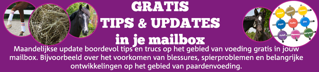 Paardenvoeding Gratis tips en updates