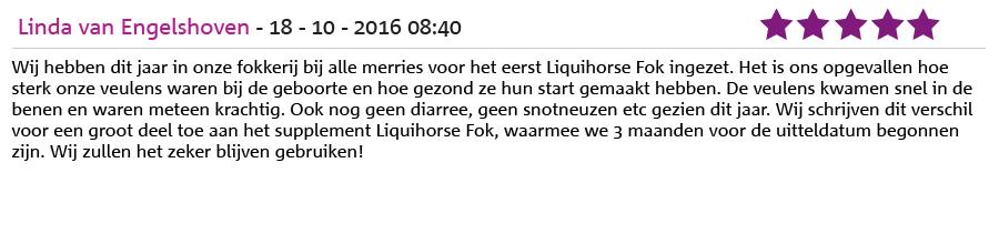Ervaring LiquiHorse Fok door Linda van Engelshoven
